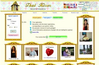 thaikisses.com Homepage Screenshot