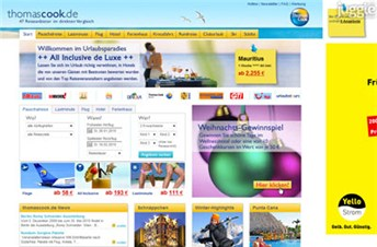 thomascook.de Homepage Screenshot