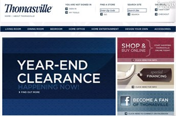 thomasville.com Homepage Screenshot