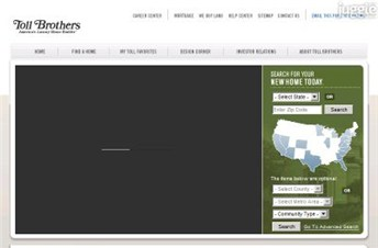 tollbrothers.com Homepage Screenshot
