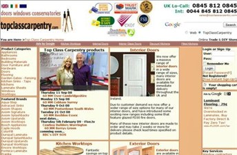 topclasscarpentry.com Homepage Screenshot