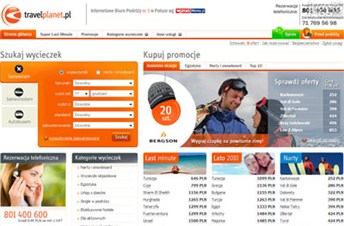 travelplanet.pl Homepage Screenshot