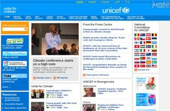 unicef.org Homepage Screenshot