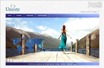 unicity.net Homepage Screenshot