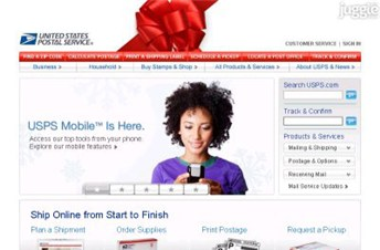 usps.com Homepage Screenshot