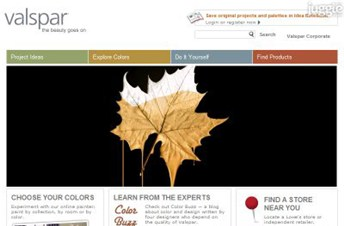 valspar.com Homepage Screenshot