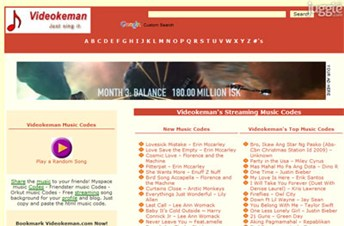 videokeman.com Homepage Screenshot