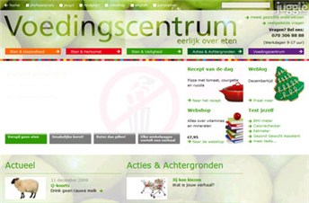 voedingscentrum.nl Homepage Screenshot