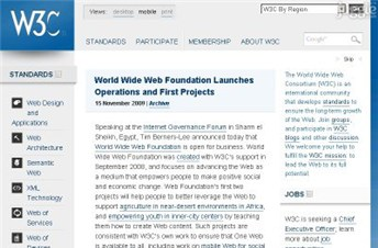 w3.org Homepage Screenshot