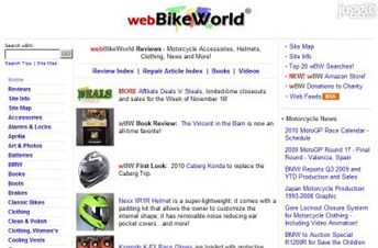 webbikeworld.com Homepage Screenshot