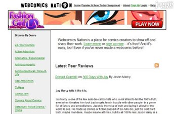 webcomicsnation.com Homepage Screenshot