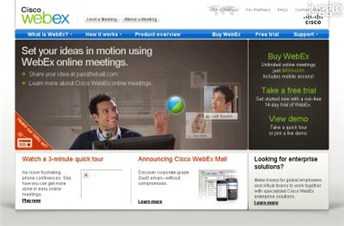 webex.com Homepage Screenshot