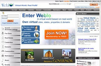 weblo.com Homepage Screenshot