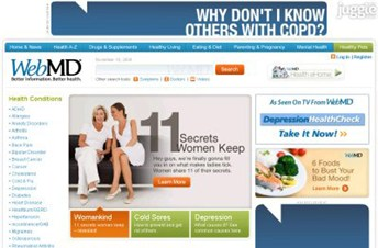 webmd.com Homepage Screenshot