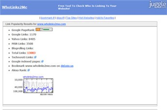 wholinks2me.com Homepage Screenshot