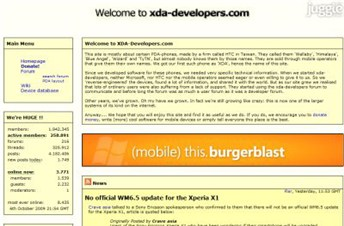 xda-developers.com Homepage Screenshot