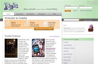 xomba.com Homepage Screenshot