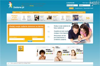 zadane.pl Homepage Screenshot