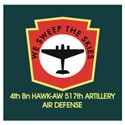 4th Bn HAWK-AW 517th Artillery Logo