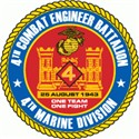 4th Combat Engineer Battalion USMCR Logo