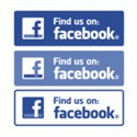 Facebook (Find us on) Logo