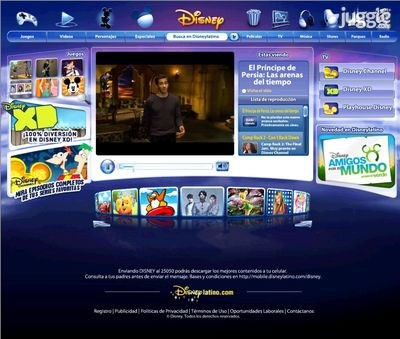 disneylatino.com Homepage Screenshot