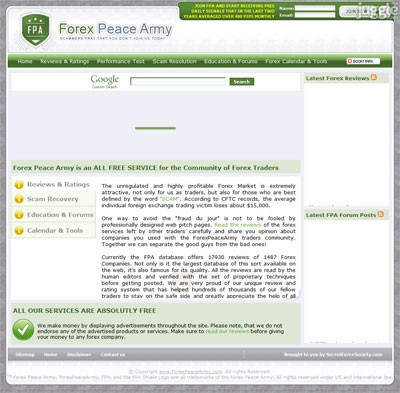 Aims forex peace army