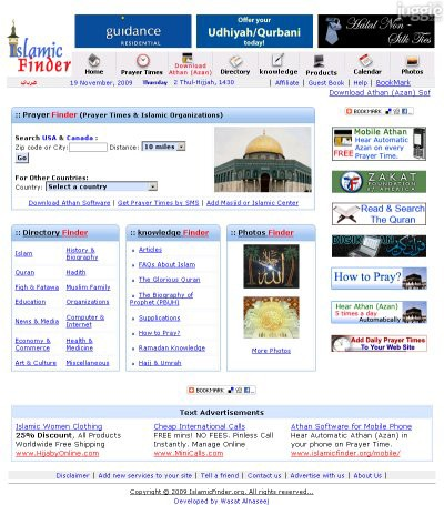 islamicfinder.org Traffic Rankings, Whois Data, and Website ...