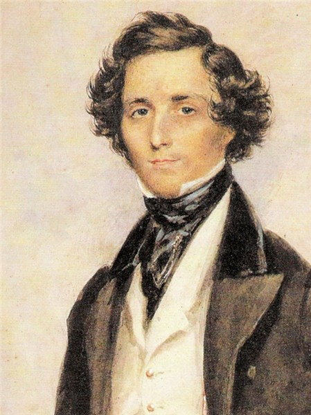 Portrait of Mendelssohn by the English ...