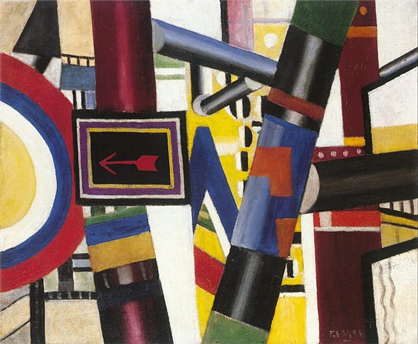 Fernand Leger, The Railway Crossing, 1919, oil on canvas