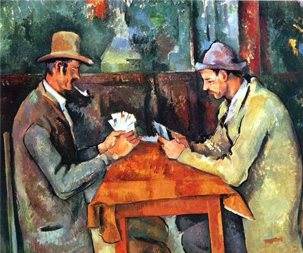 The Cardplayers, an iconic work by C zanne (1892).