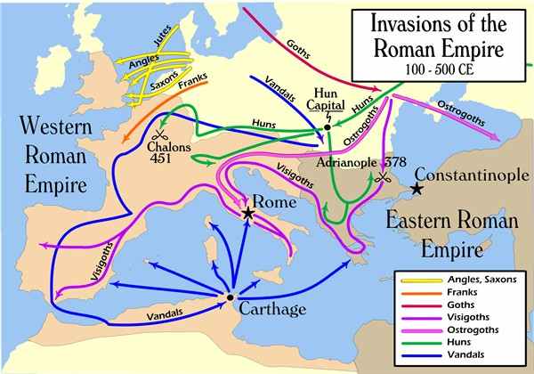Barbarian invasions of the