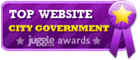 Washington, D.C. - Top City Government Website Award Badge