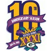 Green Bay Packers Anniversary Logo