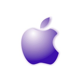 purple apple logo 4k - photo #32