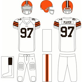 Cleveland Browns Road Uniform
